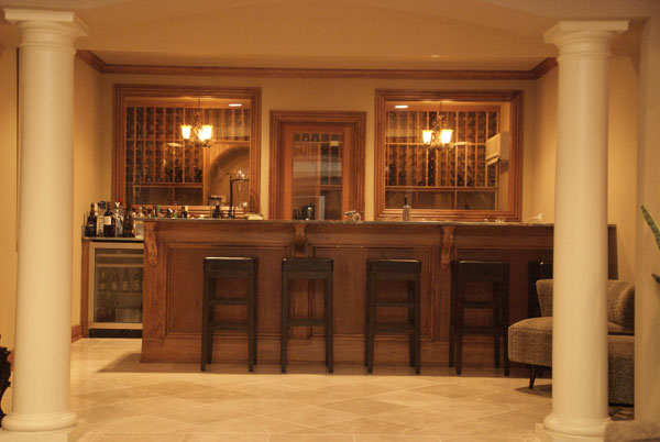 A great at home bar wtit the blog for Custom home bar plans