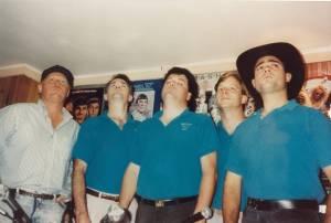 In 1992: Johnnie, Rock, Bud, Captain & Midnight.