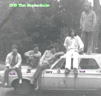 Staff on Budmobile 1970